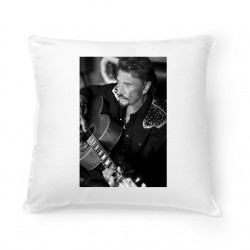 Coussin Fan de ... Johnny Hallyday Portrait