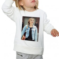 Sweat enfant Blanc Louane