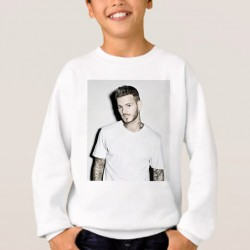 Sweat enfant Blanc Pokora tatoué