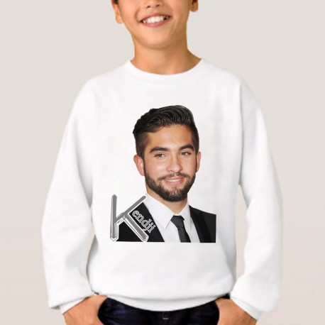 Sweat enfant Blanc Kendji Girac