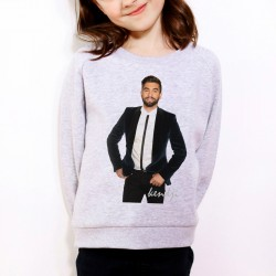 Sweat enfant Gris Kendji signature