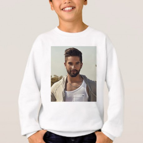 Sweat enfant Blanc Fan de ... Kendji le rêve continue