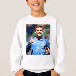 Sweat enfant Blanc Fan de ... Antoine Griezmann