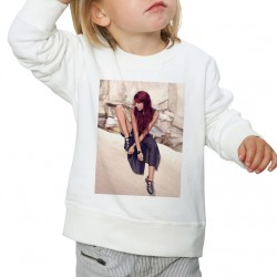 Sweat enfant Blanc Fan de ... Shy'm