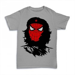T-Shirt SpiderMan revolution Che Guevara - homme gris