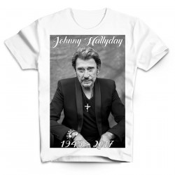 T-Shirt Fan de... Johnny Hallyday RIP - homme blanc