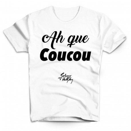 T-Shirt Fan de... Ah que coucou Johnny Hallyday - homme blanc