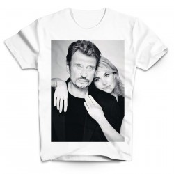 T-Shirt Fan de... Johnny Hallyday et Leatitia - homme blanc