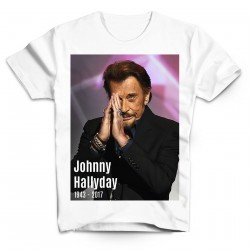 T-Shirt Fan de... Johnny Hallyday forever - homme blanc