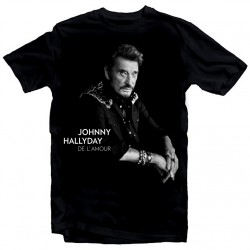 T-Shirt Fan de... Johnny Hallyday de l'amour - homme noir