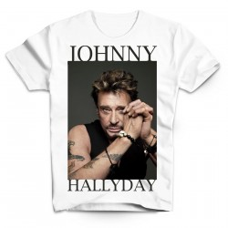 T-Shirt Fan de... Johnny Hallyday The best - homme blanc