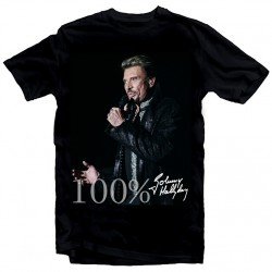 T-Shirt Fan de... Johnny Hallyday 100% - homme noir