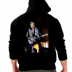 Sweat Capuche Noir Fan de ... Johnny Hallyday Guitare - dos