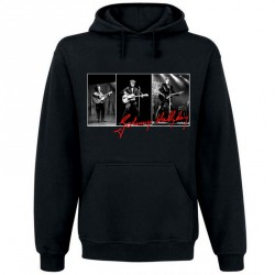 Sweat Capuche Noir Fan de ... Johnny Hallyday Triptyque