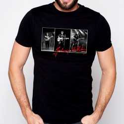 T-Shirt Homme Noir Fan de ... Johnny Hallyday Triptyque