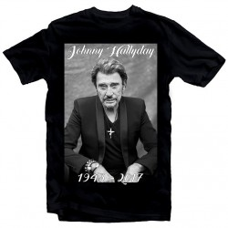T-Shirt Fan de... Johnny Hallyday RIP - homme NOIR