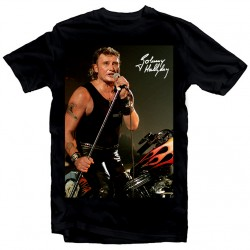 T-Shirt Fan de... Johnny Hallyday Harley - homme noir