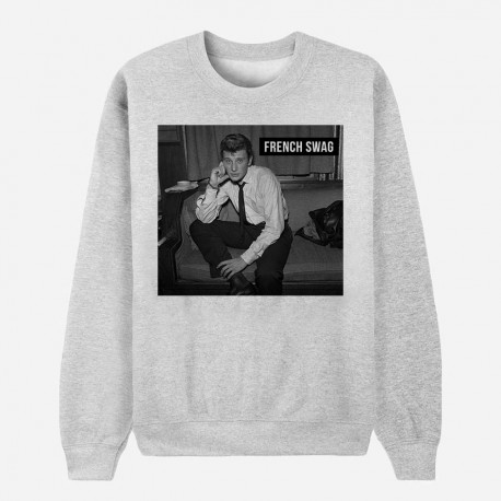 Sweat Adulte Gris - Johnny : French Swag