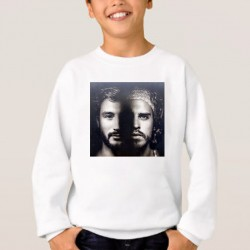 Sweat enfant Blanc Fan de... Fréro Delavega