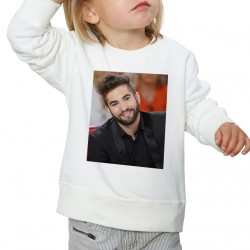 Sweat enfant Blanc Fan de... Kendji Girac sourire
