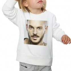 Sweat enfant Blanc Fan de... Pokora