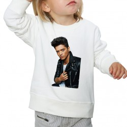 Sweat enfant Blanc Fan de... Bruno Mars