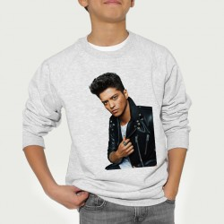 Sweat enfant Gris Fan de... Bruno Mars