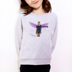 Sweat enfant Gris Fan de... Louane Ange