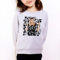 Sweat enfant Gris Fan de... Louane Black and White