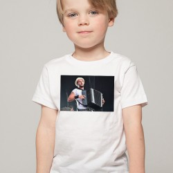 T-Shirt Enfant Blanc Fan de ... Claudio Capéo accordéon