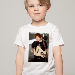 T-Shirt Enfant Blanc Fan de ... Ed Sheeran en concert