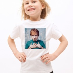 T-Shirt Enfant Blanc Fan de ... Ed Sheeran portrait