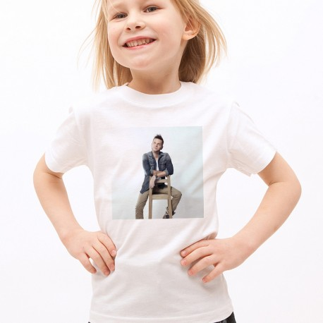 T-Shirt Enfant Blanc Fan de ... Keen'V