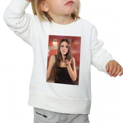 Sweat enfant Blanc Fan de... Marina Kaye