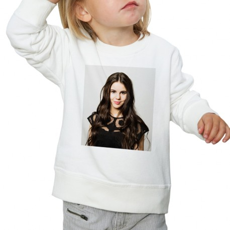 Sweat enfant Blanc Fan de... Marina Kaye portrait