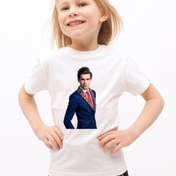 T-Shirt Enfant Blanc Fan de ... Mika portrait