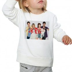 Sweat enfant Blanc Fan de... Violetta coeur