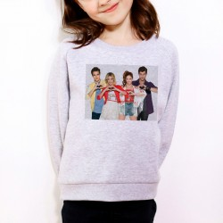 Sweat enfant Gris Fan de... Violetta coeur