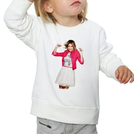 Sweat enfant Blanc Fan de... Violetta