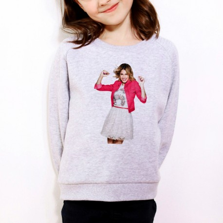 Sweat enfant Gris Fan de... Violetta