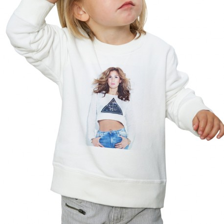 Sweat enfant Blanc Fan de... Vitaa