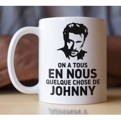 MUG Fan de... Johnny Hallyday on a tous