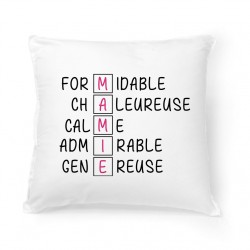 Coussin Lettres MAMIE