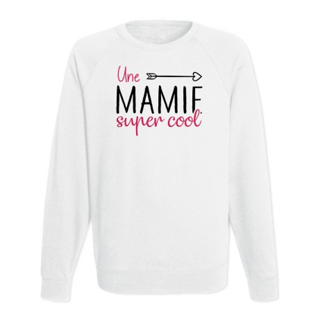 Sweat Adulte Blanc - Une mamie super cool