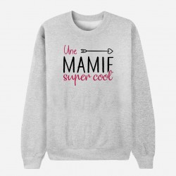 Sweat Adulte Gris - Une mamie super cool