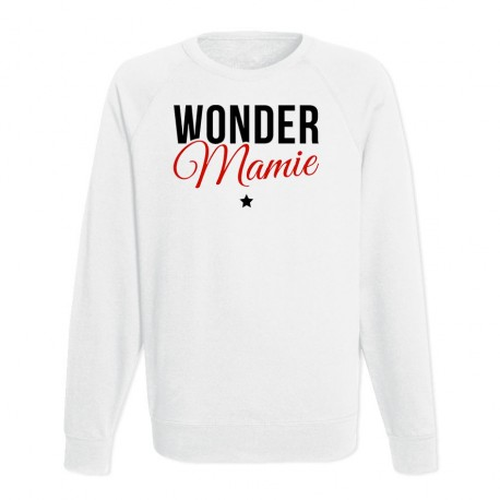 Sweat Adulte Blanc - Wonder mamie
