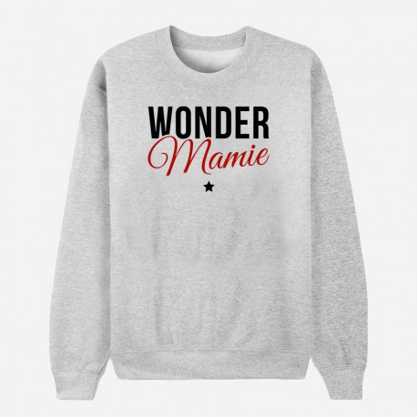 Sweat Adulte Gris - Wonder mamie