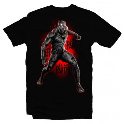 T-Shirt Black Panther Avengers Marvel - Homme noir