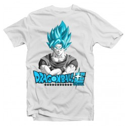 T-Shirt Goku Super Saiyan Blue Dragon Ball - Homme blanc
