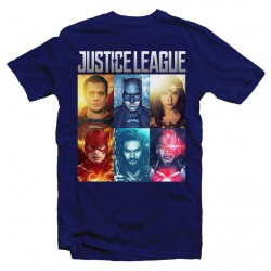 T-Shirt Justice League Superman batman Flash - Homme bleu
